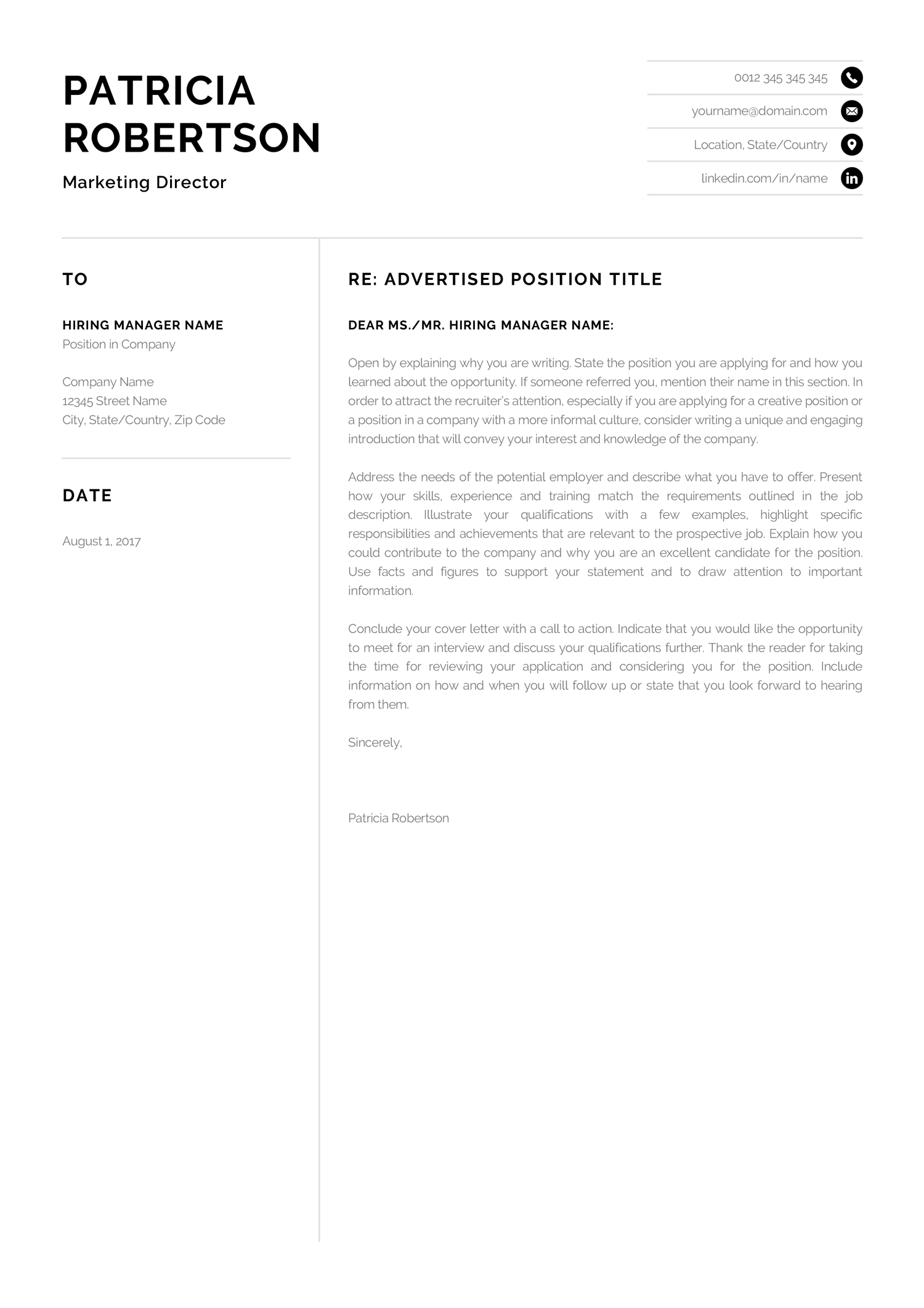 Letter To Potential Employer from i.pinimg.com