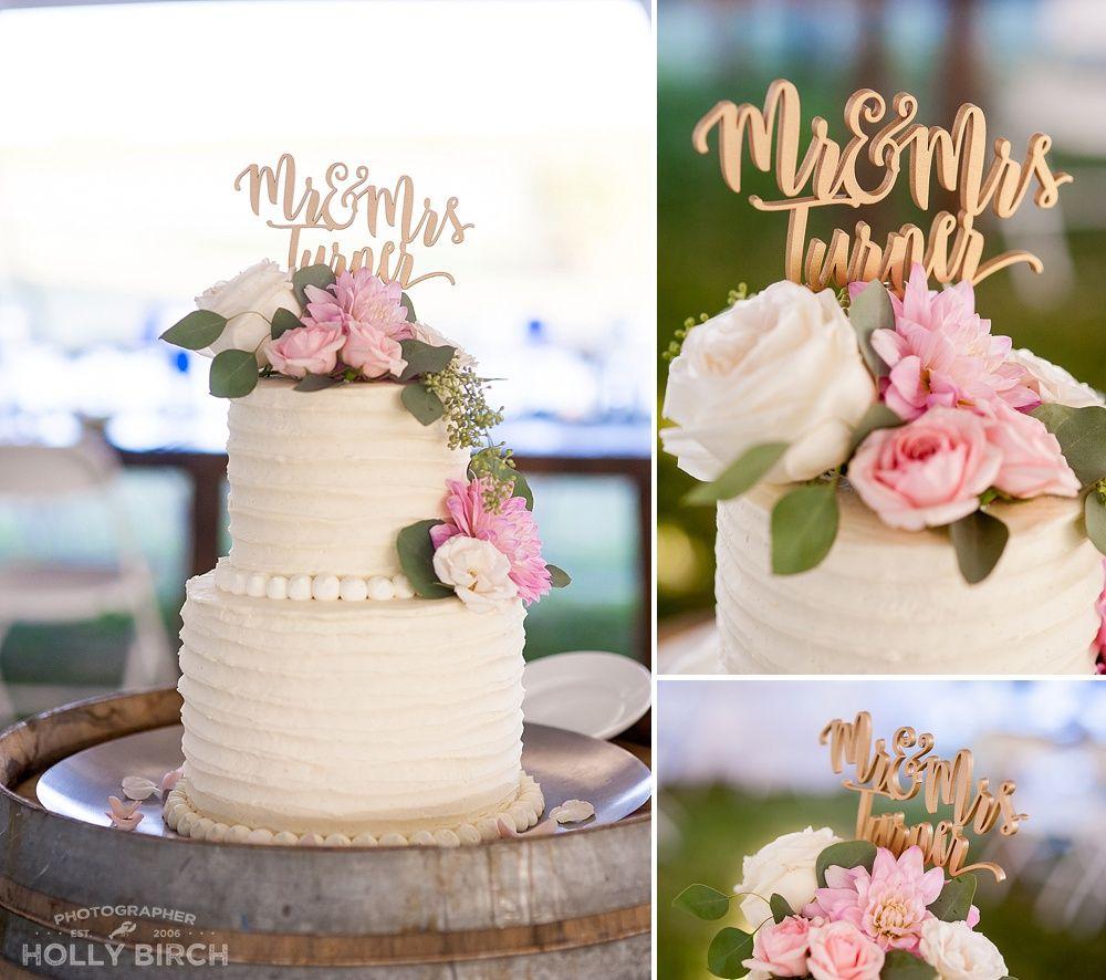 2 Tier Wedding Cake With Blush Pink Flowers Wedding Cake Ideas