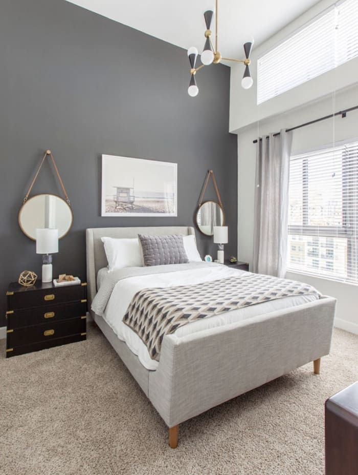 30 ideas para pintar y decorar una habitaci n gris - Ideas decoracion dormitorios ...