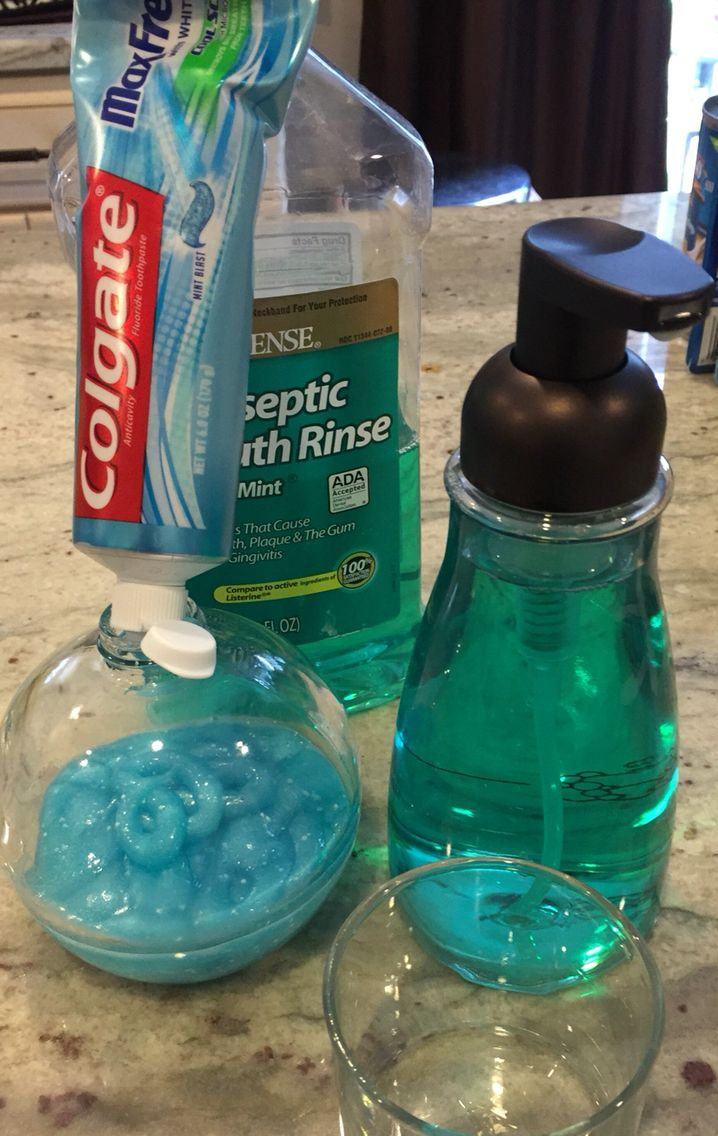 Fill a new soap dispenser with toothpaste and foaming dispenser with ...