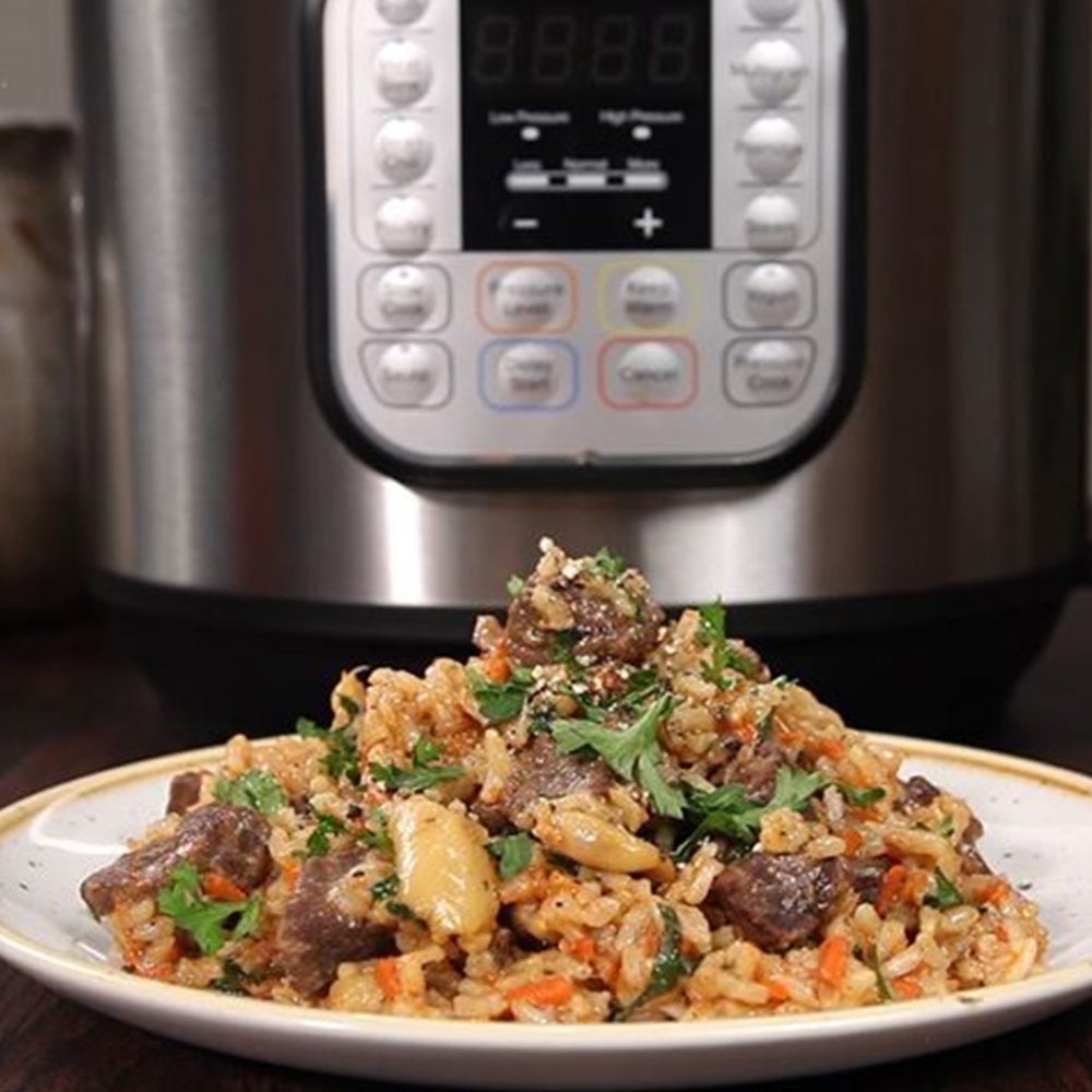 Photo of Russian Garlicky Beef and Rice – Instant Pot Recipes
