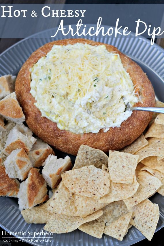 Hot and Cheesy Artichoke dip - this dip is perfect for holiday entertaining and parties!