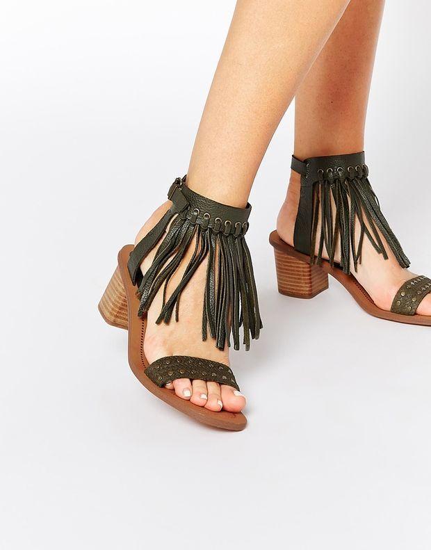 2c81e8481fc1 ALDO Cayley Leather Fringe Wooden Heel Sandals