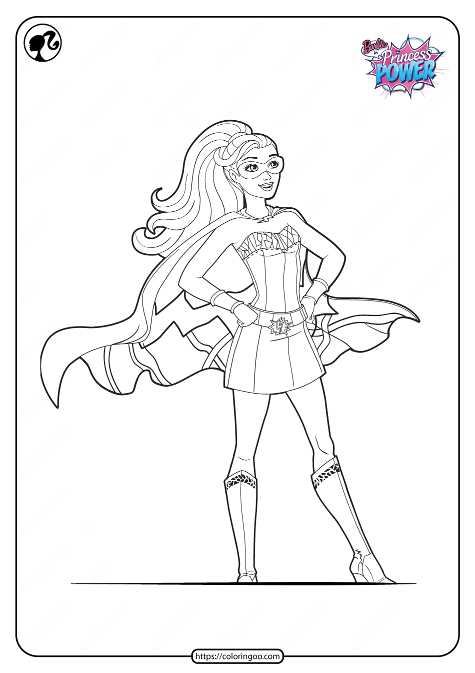 Barbie In Princess Power Coloring Pages Designs Trend