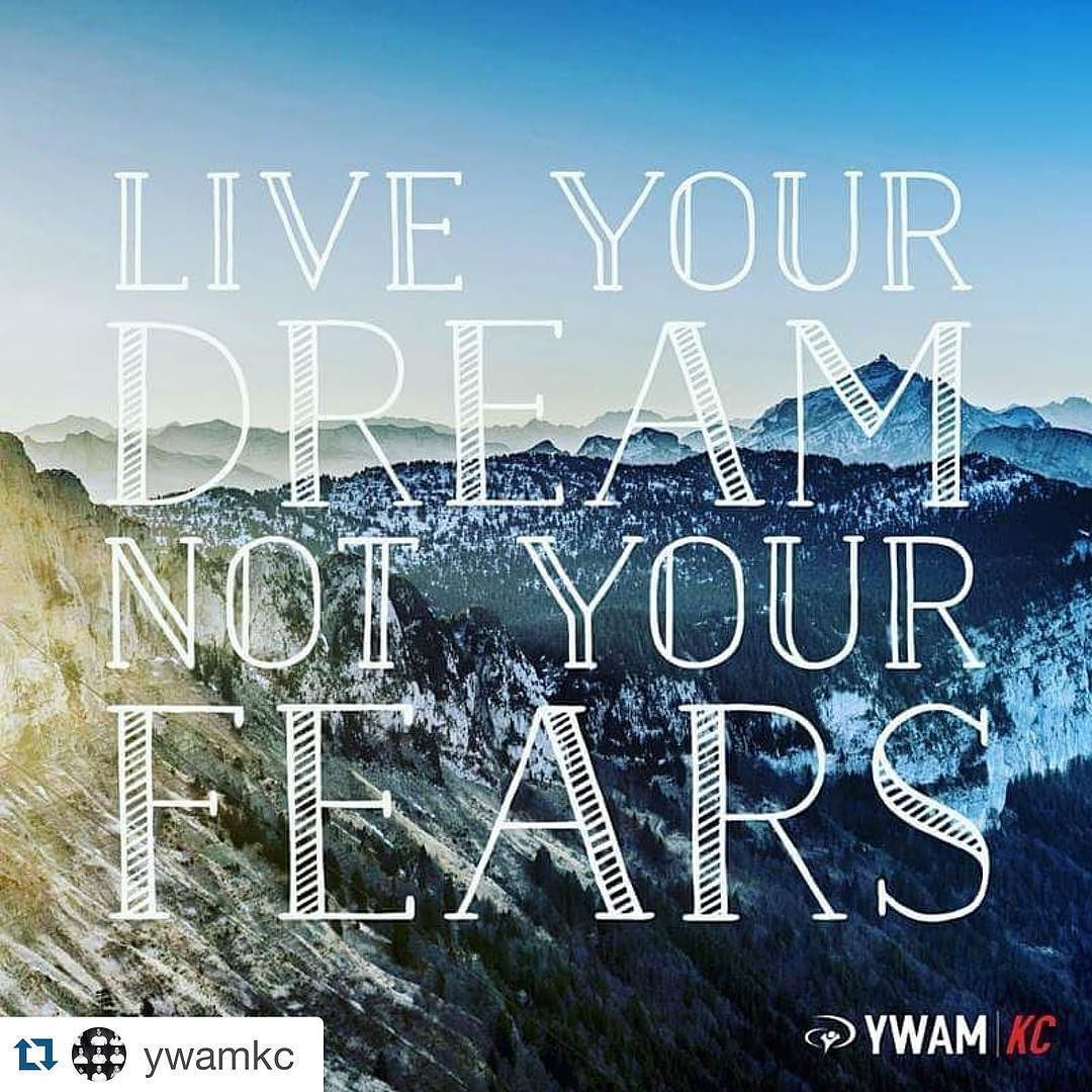 #Repost @ywamkc with @repostapp.  This Monday is a great day to live in the promises and the dreams that the Lord has for you...not in fear! #mondaymotivation  #ywam #ywamKC #Missions #Gospel #Bible #bibleverse #quotes #quotestoliveby #quoteoftheday #faith #truth #inspire #life #inspiration #God by wilsonsophian http://bit.ly/dtskyiv #ywamkyiv #ywam #mission #missiontrip #outreach