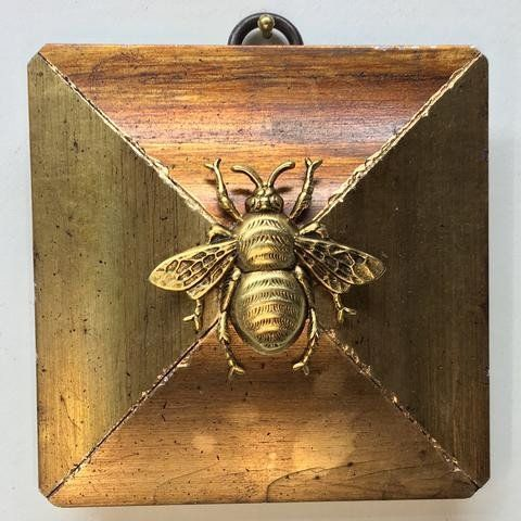 Gold Square Frame with Grande Bee