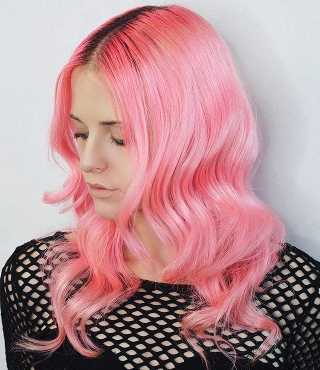 Beautiful Flamingo Pink Hair Color