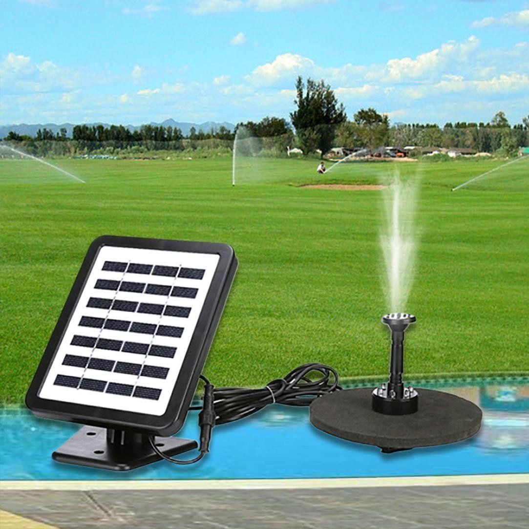 Solar Fountain Pump Bird BathNXDA Outdoor Solar Powered