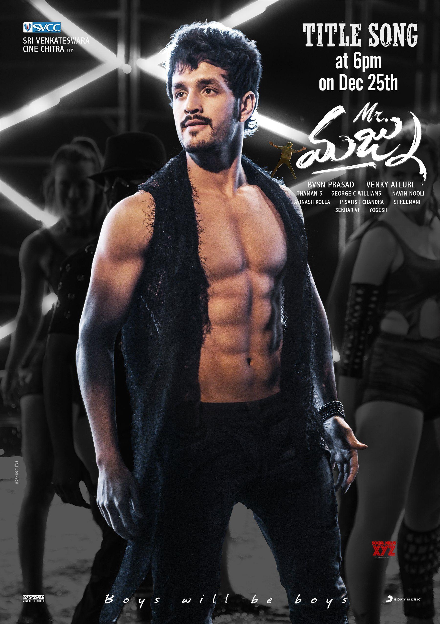 akhil akkineni new movie poster