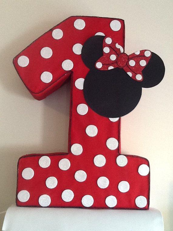 Minnie mouse numero piñata. por aldimyshop en Etsy  6fc66bfba23