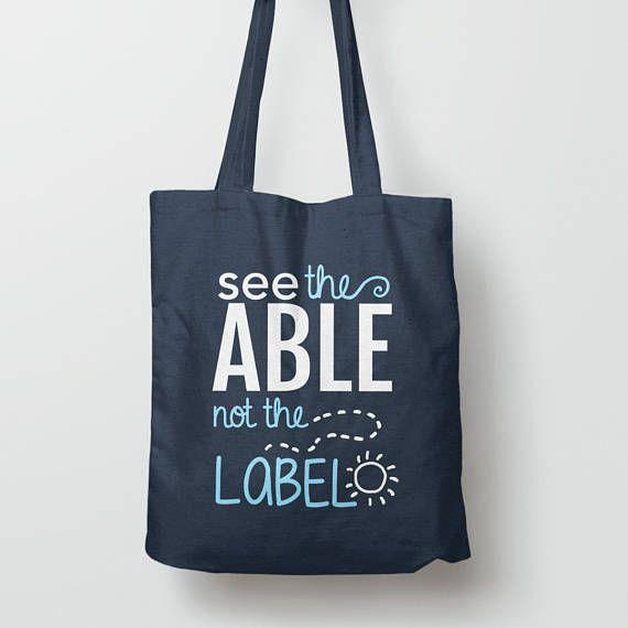5a3fae89e9c1 Autism bag, special needs teacher gift, autism tote bag, autism ...