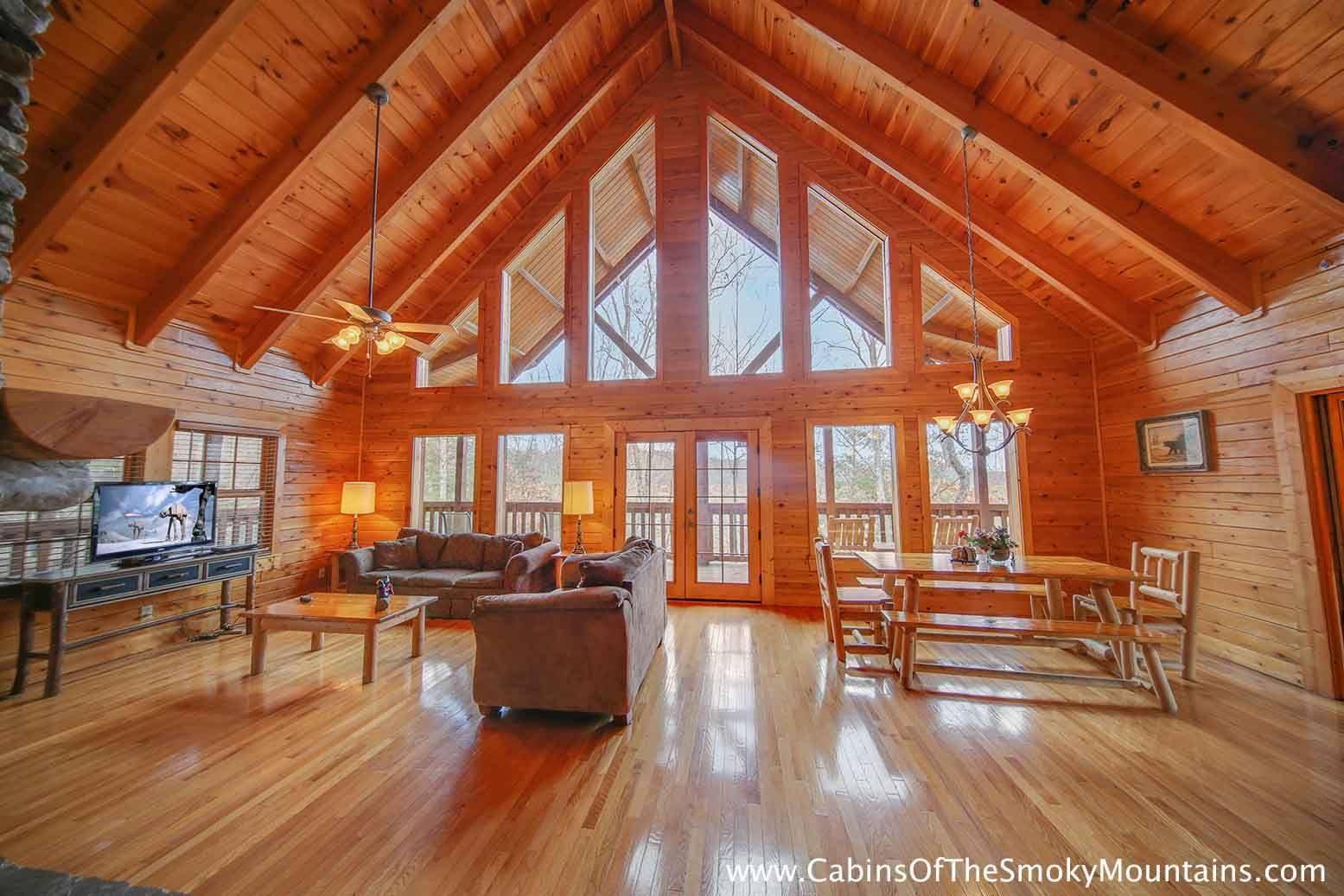 Beautiful living room! Scene from Smoky Bear's Den, a 5