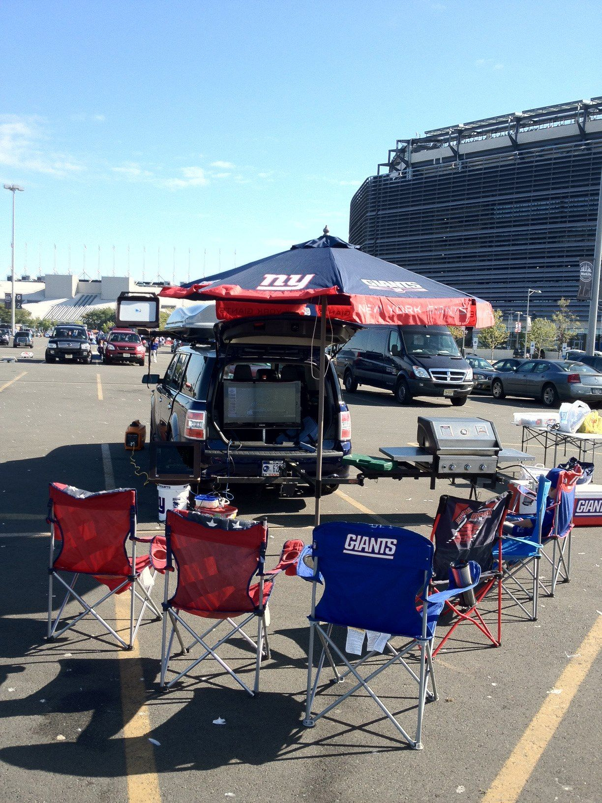 From Steve W Calm before the tailgate no people but an elegant