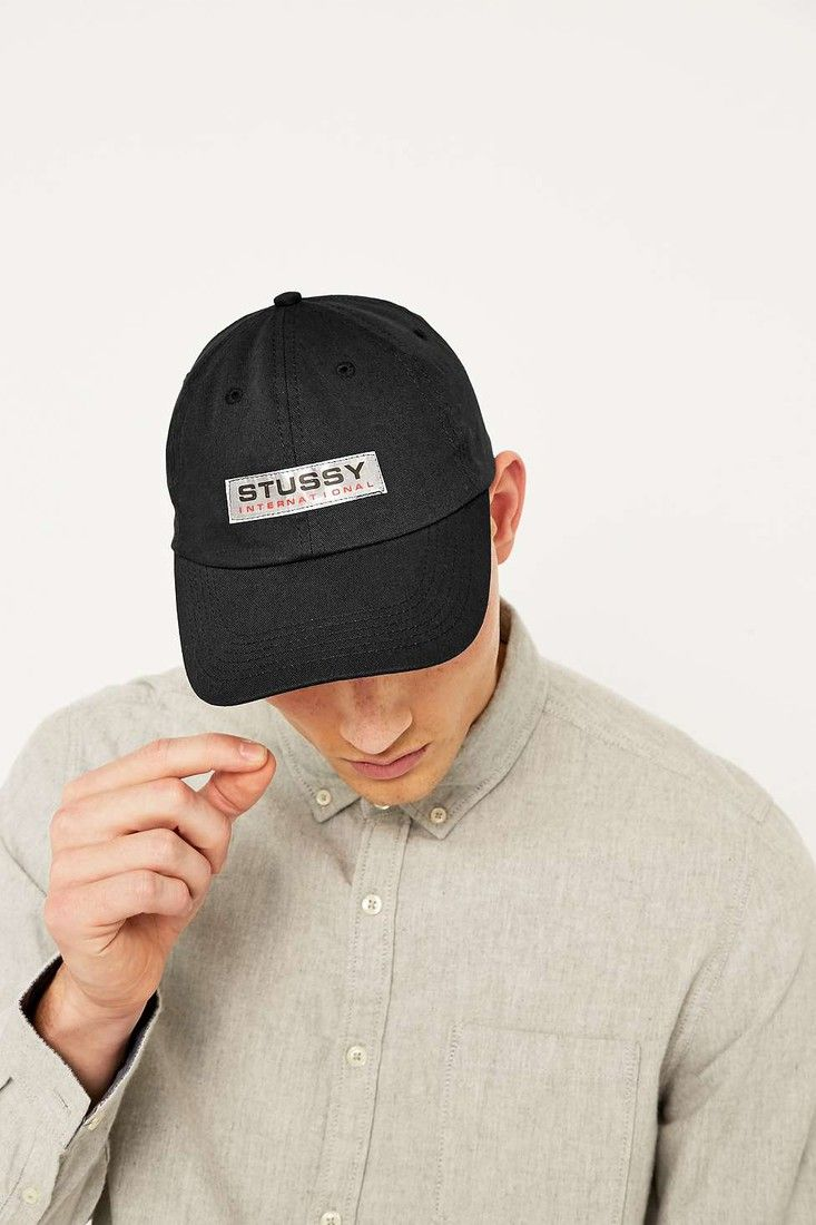 Urban Outfitters - Stussy International Patch Black Cap  9124e75d804