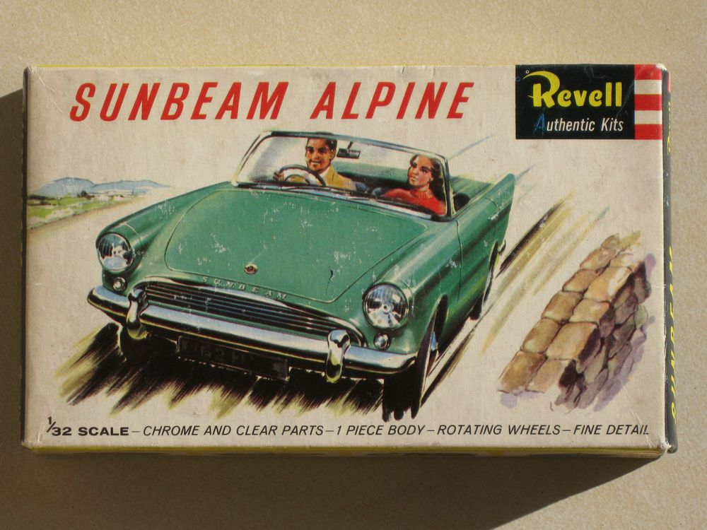 Vintage revell sunbeam alpine plastic model kit. boxed \