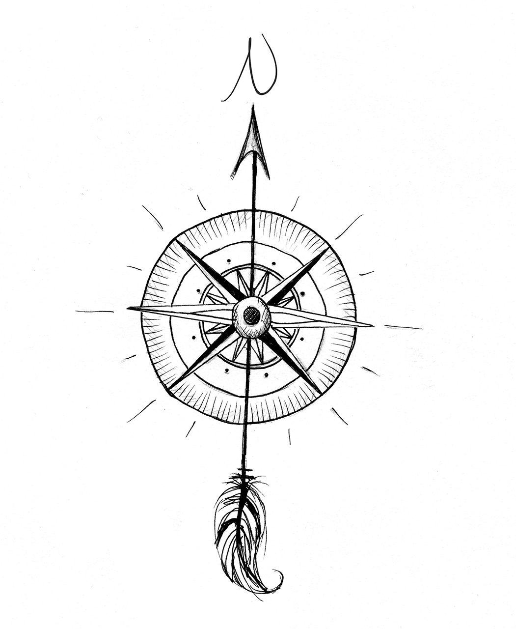 Custom Tattoo Designs - Contemporary Artist | Compass tattoo ...