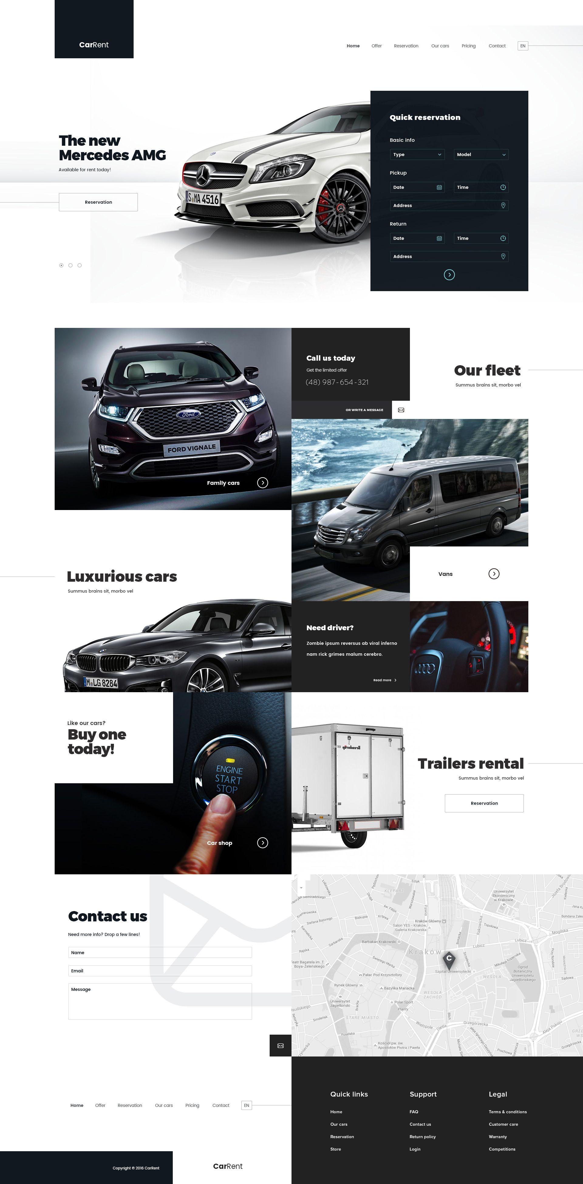 Car Rent Web Design Powerpoint Design Website Design Inspiration