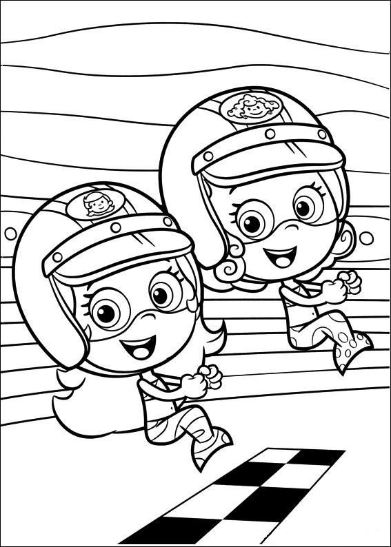coloring page Bubble Guppies - Bubble Guppies | Boys second birthday ...