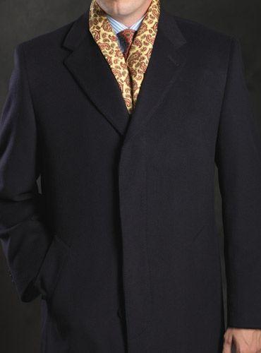Cashmere Blend Navy Overcoat