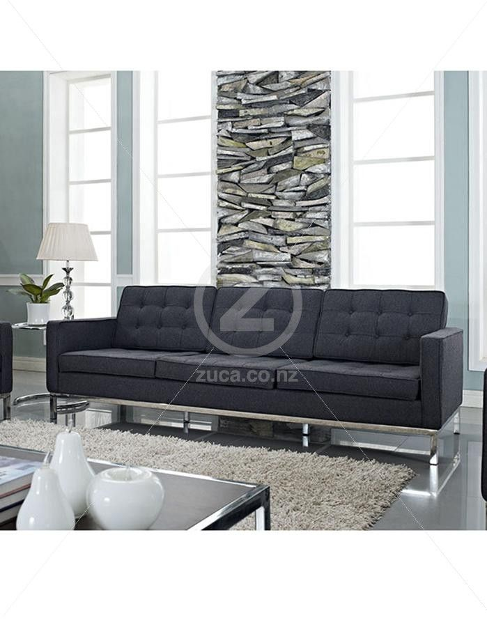 Fine Replica Florence Knoll 3 Seater Sofa Charcoal Zuca Pdpeps Interior Chair Design Pdpepsorg