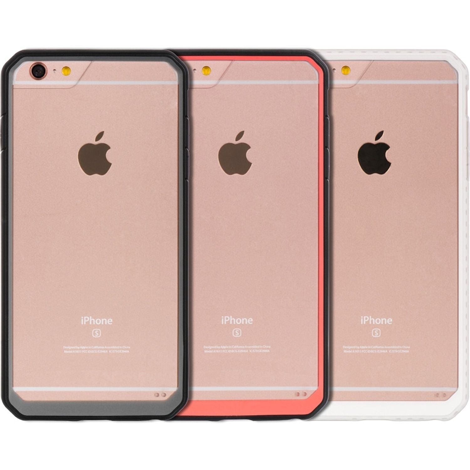 Apple Iphone 6 Plus 6S Plus Black Fusion Candy Case with Dual Color TPU Frame with Transparent Pc PH FTCIP6SL DCF BK
