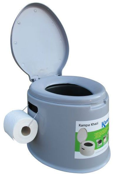 5L PORTABLE CAMPING TOILET//COVER//COMPACT POTTY LOO FESTIVAL PICNIC HIKING TRAVEL