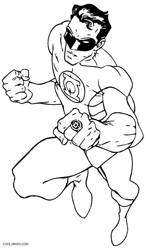 printable green lantern coloring pages for kids cool2bkids kids