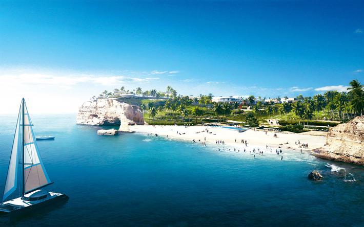 Descargar Fondos De Pantalla Jefaira, 4k, Playa, Mar