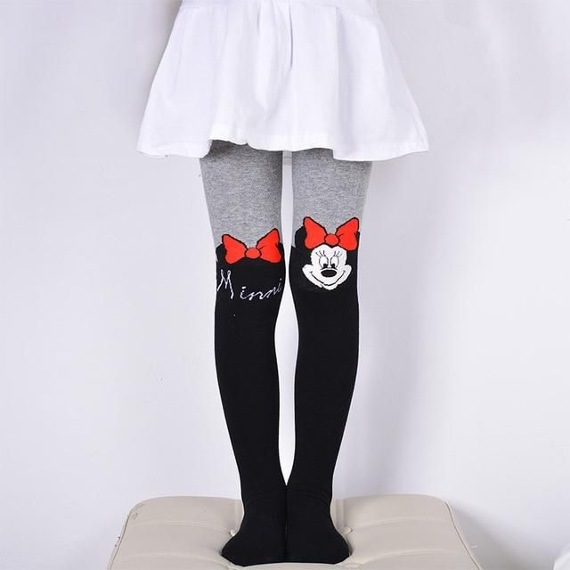 e2e2f889c DreamShining Spring Baby Girls Tights Cartoon Cat Patchwork Children Girl  Pantyhose Stockings Soft Cotton Kids Warm Tights