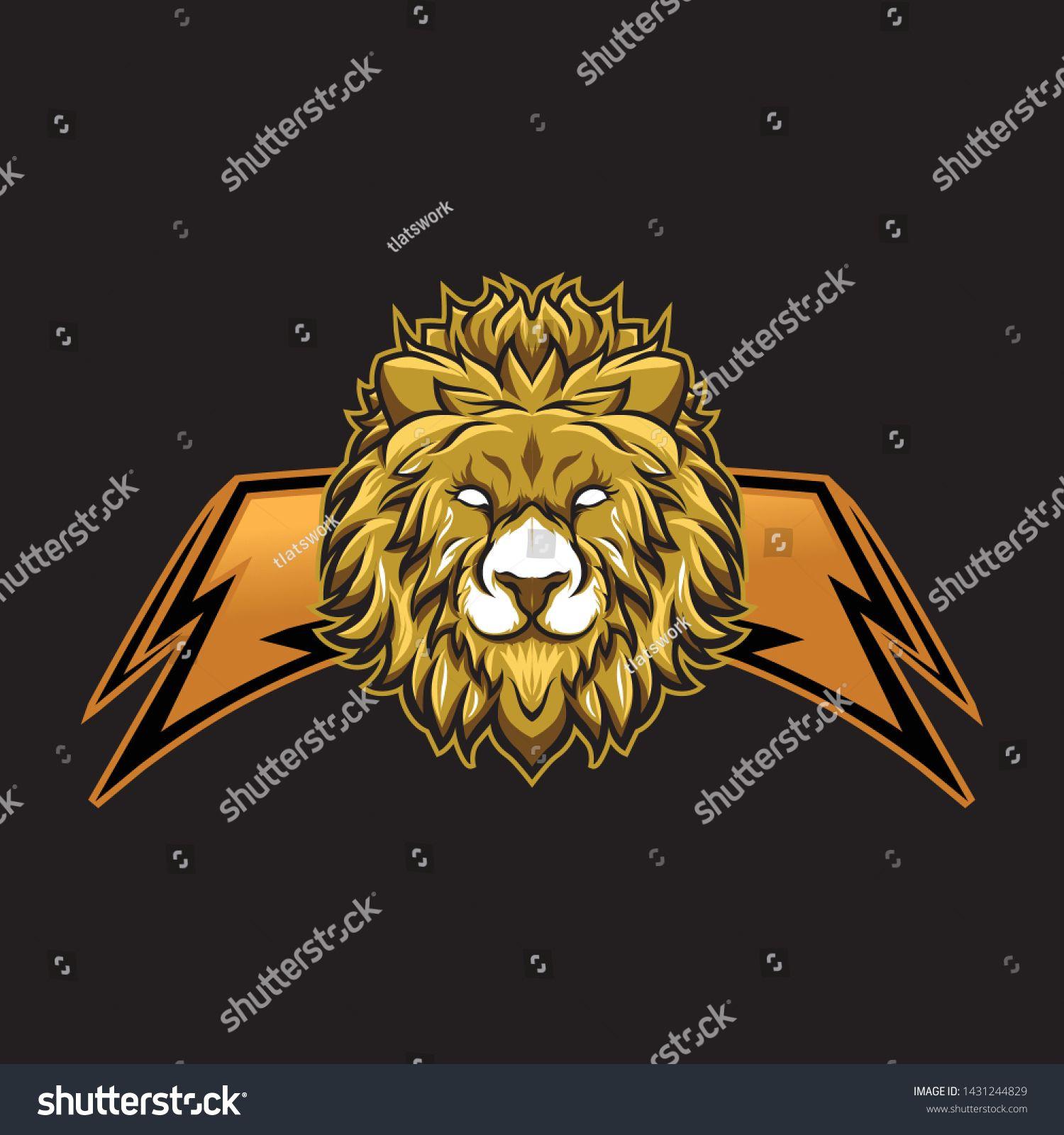 lion mascot gaming esport logo (Dengan gambar)