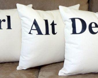 Control Alt Delete Pillows Ctrl Del Throw Pillow Trio 16 Cotton 3 Computer