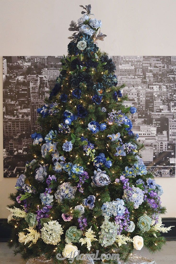 2018 Holiday Trend Floral Christmas Tree Find Silk Flowers For