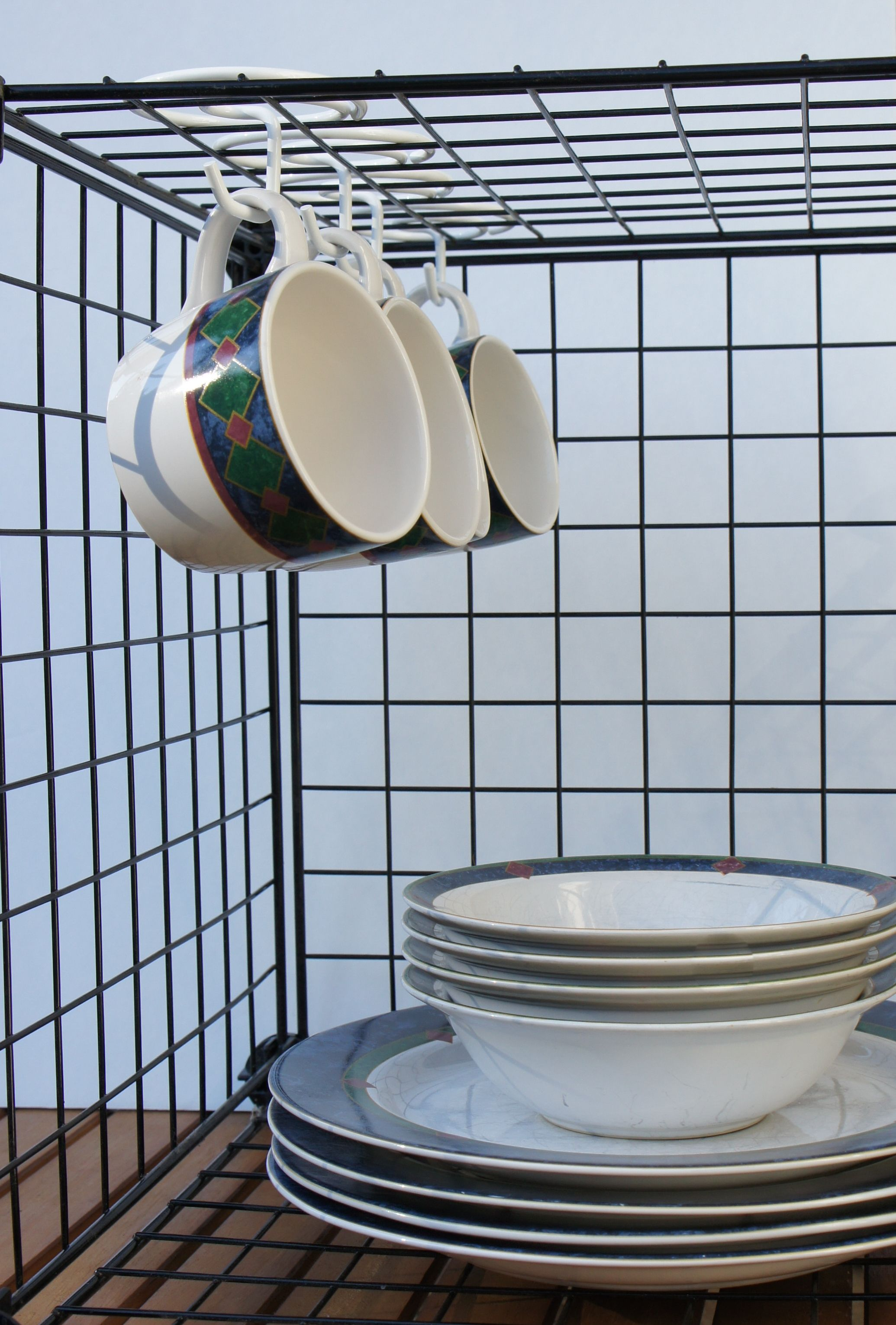 On The Hook™ Is Perfect For Hanging Mugs In Wire Storage Cubes.