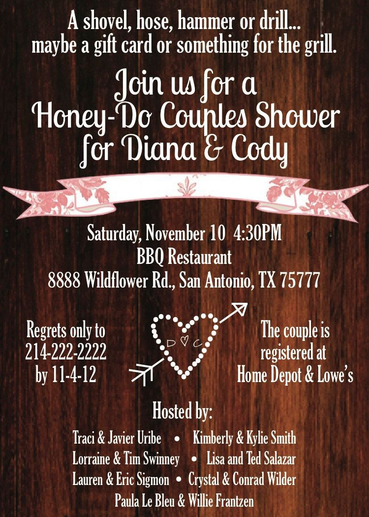 Custom Rustic Chic Honey Do Couples Shower Invitation Made By Yours