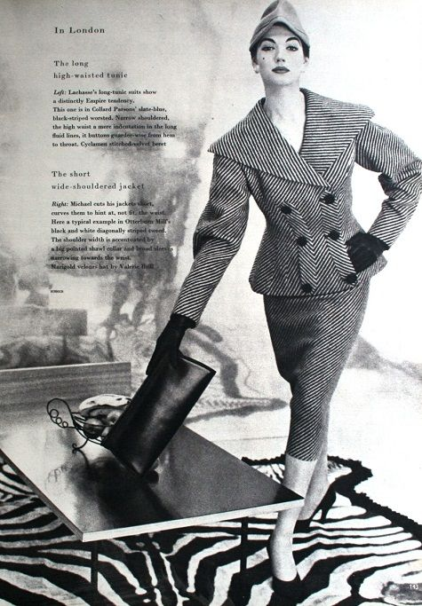 Vogue UK September 1955 - Simone d'Aillencourt photographed by Vernier