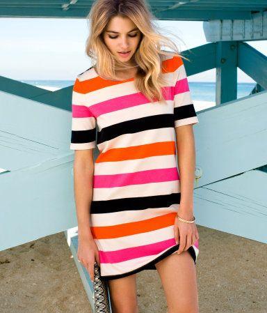 bright striped dress