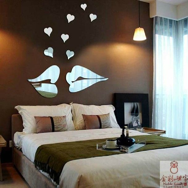Bedroom Wall Decor Romantic new home bedroom wall warm decoration romantic love theme
