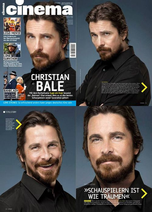 Christian Bale in Cinema magazine a German magazine.  Great pictures!