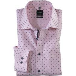 Olymp Luxor Hemd, modern fit, Global Kent, Rot, 38 Olympolymp