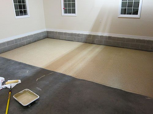 how to seal garage floors with epoxy coating my father had used