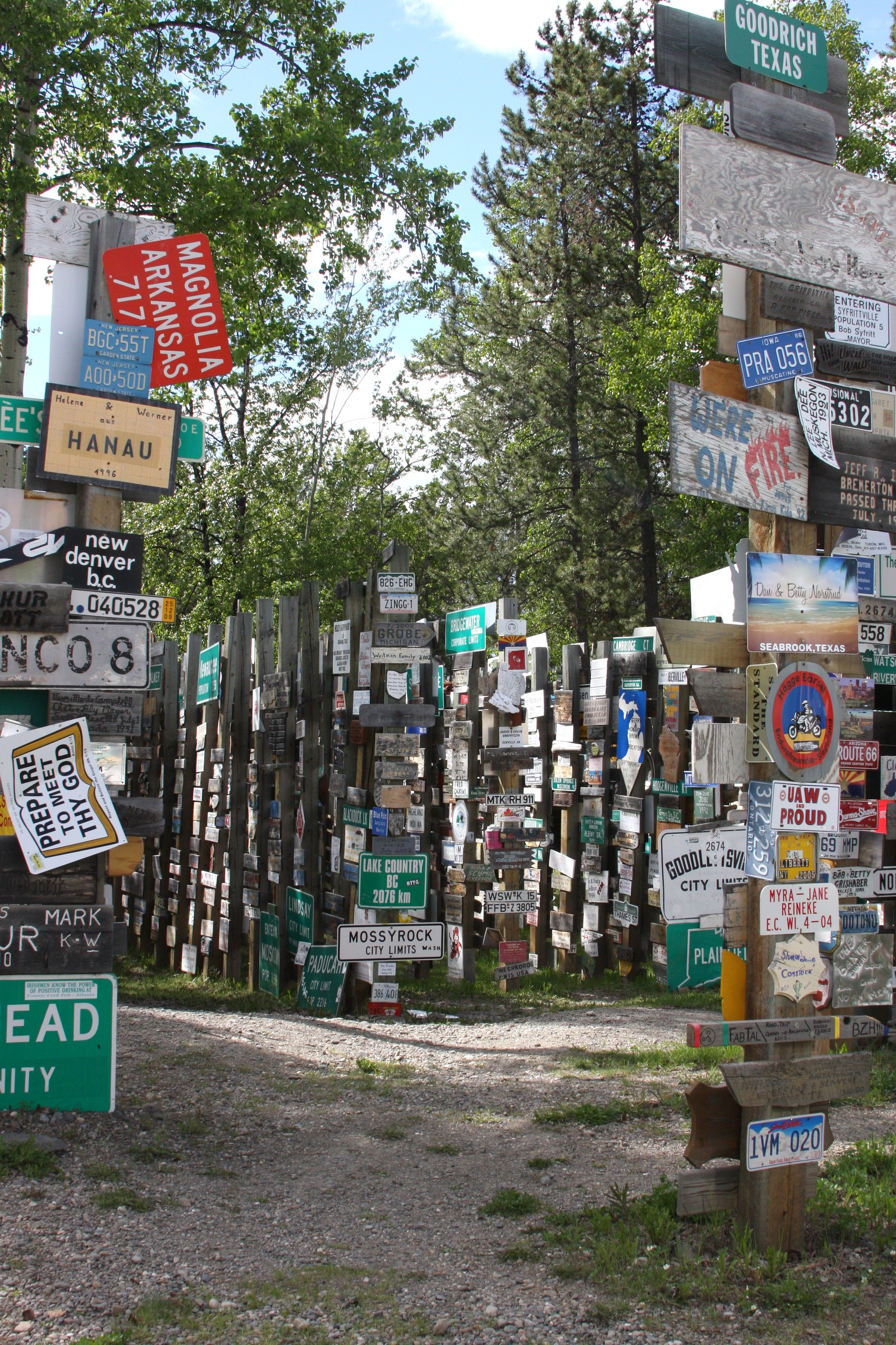 Signpost Forest Watson Lake Yukon See If You Can Find