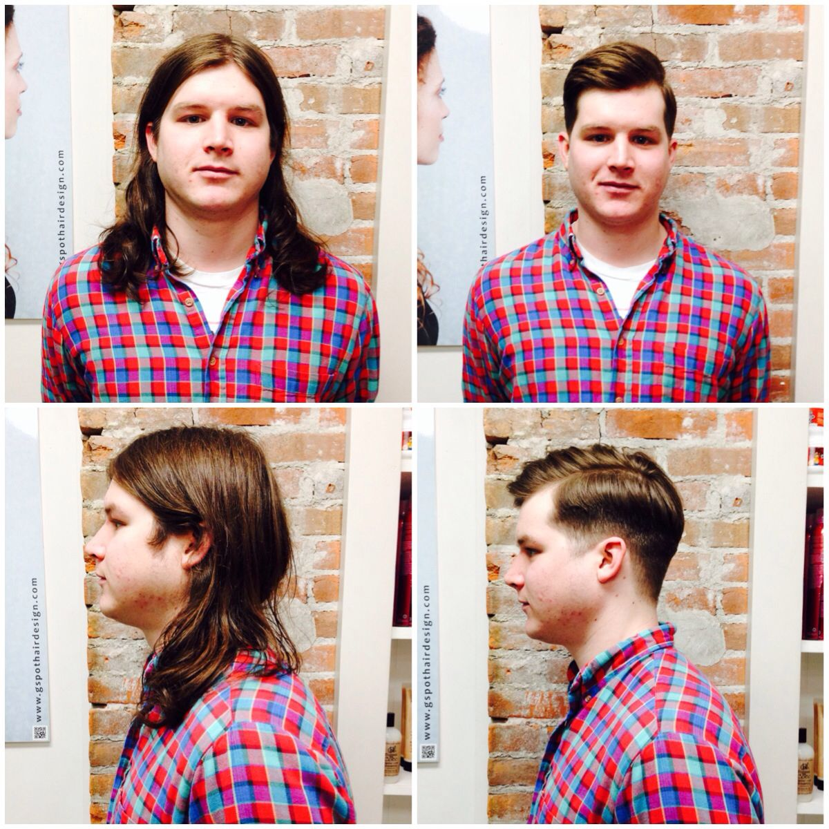 Before and after! Donated to Locks of Love! Wigs for