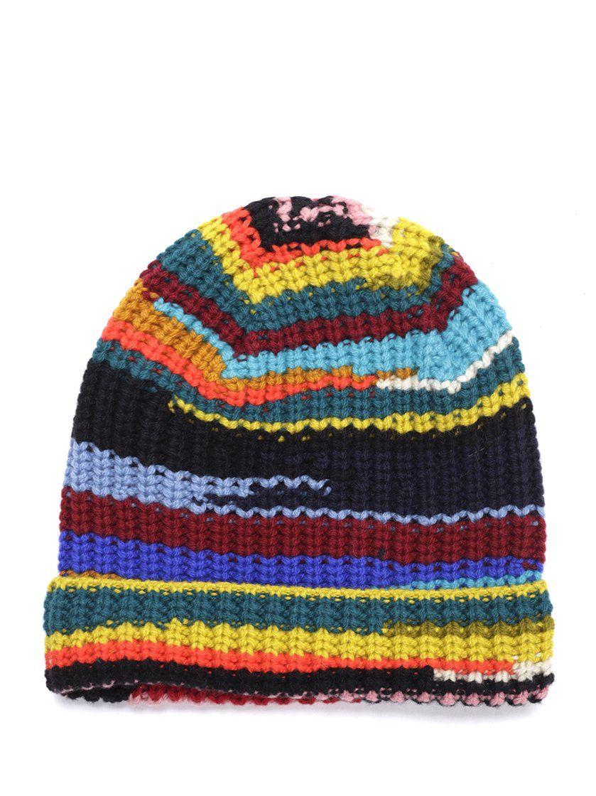 a0860f9f9a0 MISSONI MISSONI MULTI COLOUR KNIT BEANIE.  missoni Knit Beanie