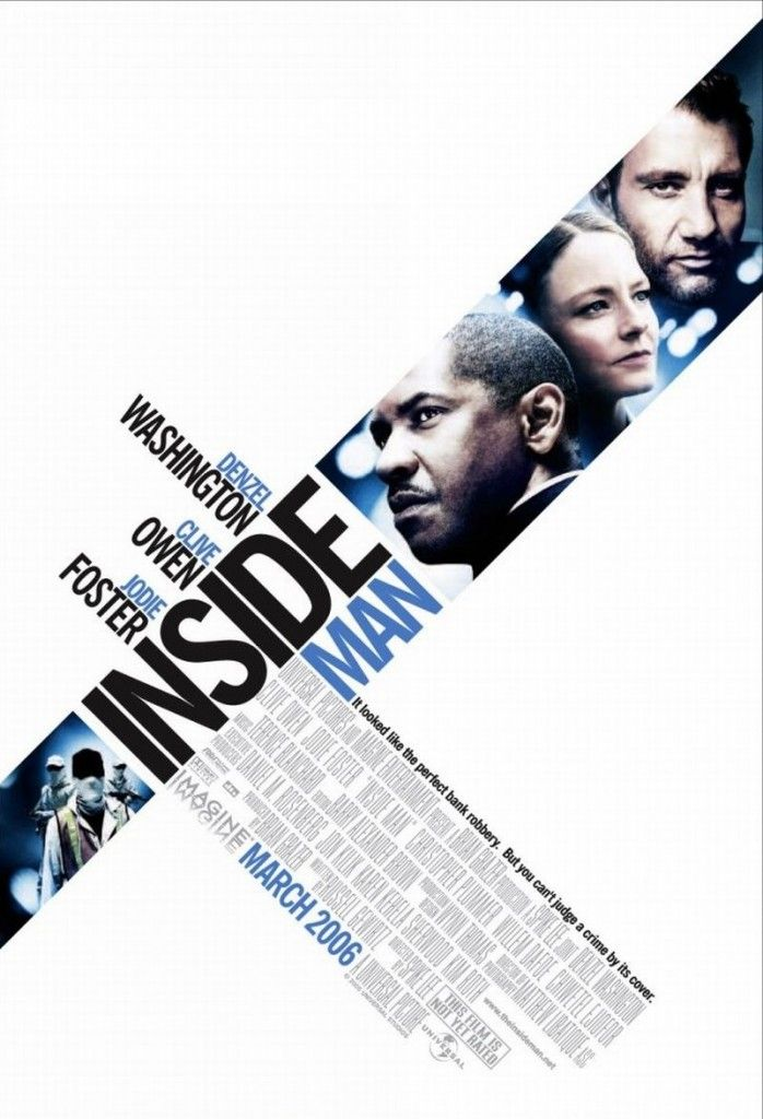 Movie poster for 'Inside Man'.
