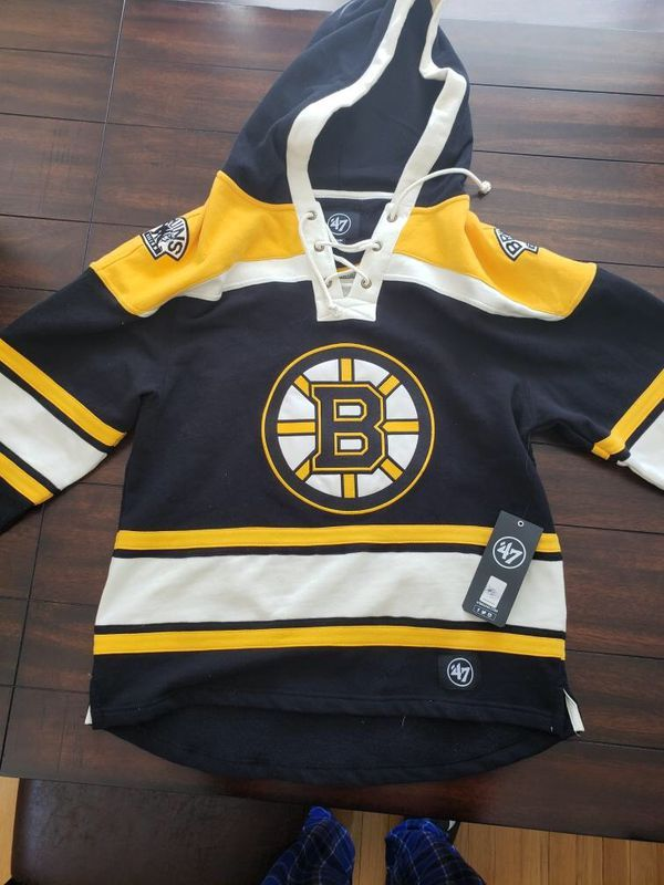Boston Bruins Jersey Hoodie Size Medium Men S 47 Brand Boston Bruins Hoodies Nhl Jerseys