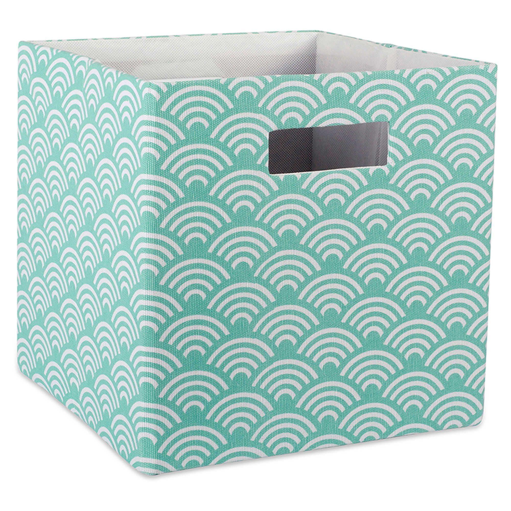 Design Imports Wave 11 Inch Storage Cube In Blue Cube Storage Fabric Storage Design Imports