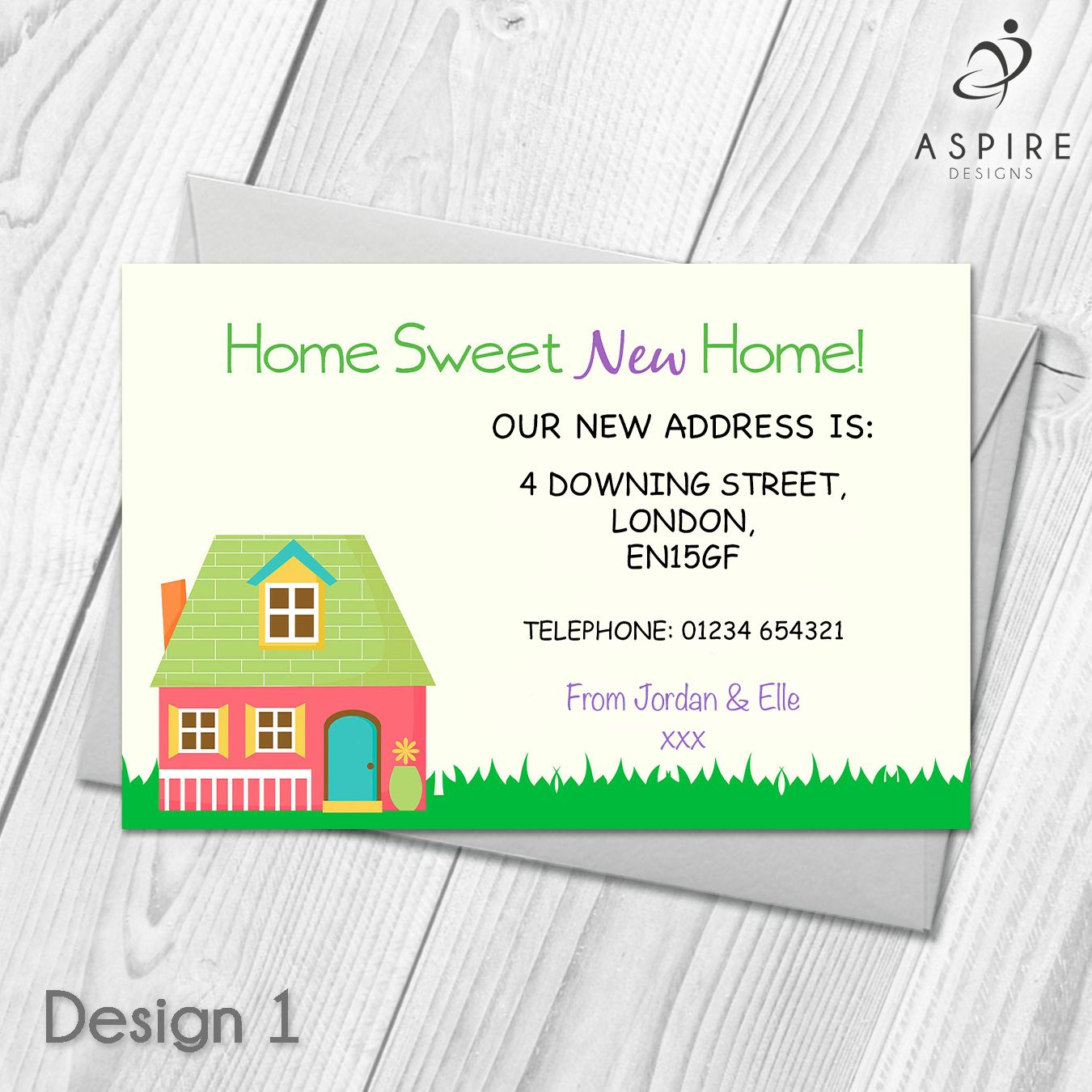 Personalised Home Sweet Home Change Of Address Cards In 2019 Regarding Free Moving House Cards Templates Change Of Address Cards Moving House Card Address Card