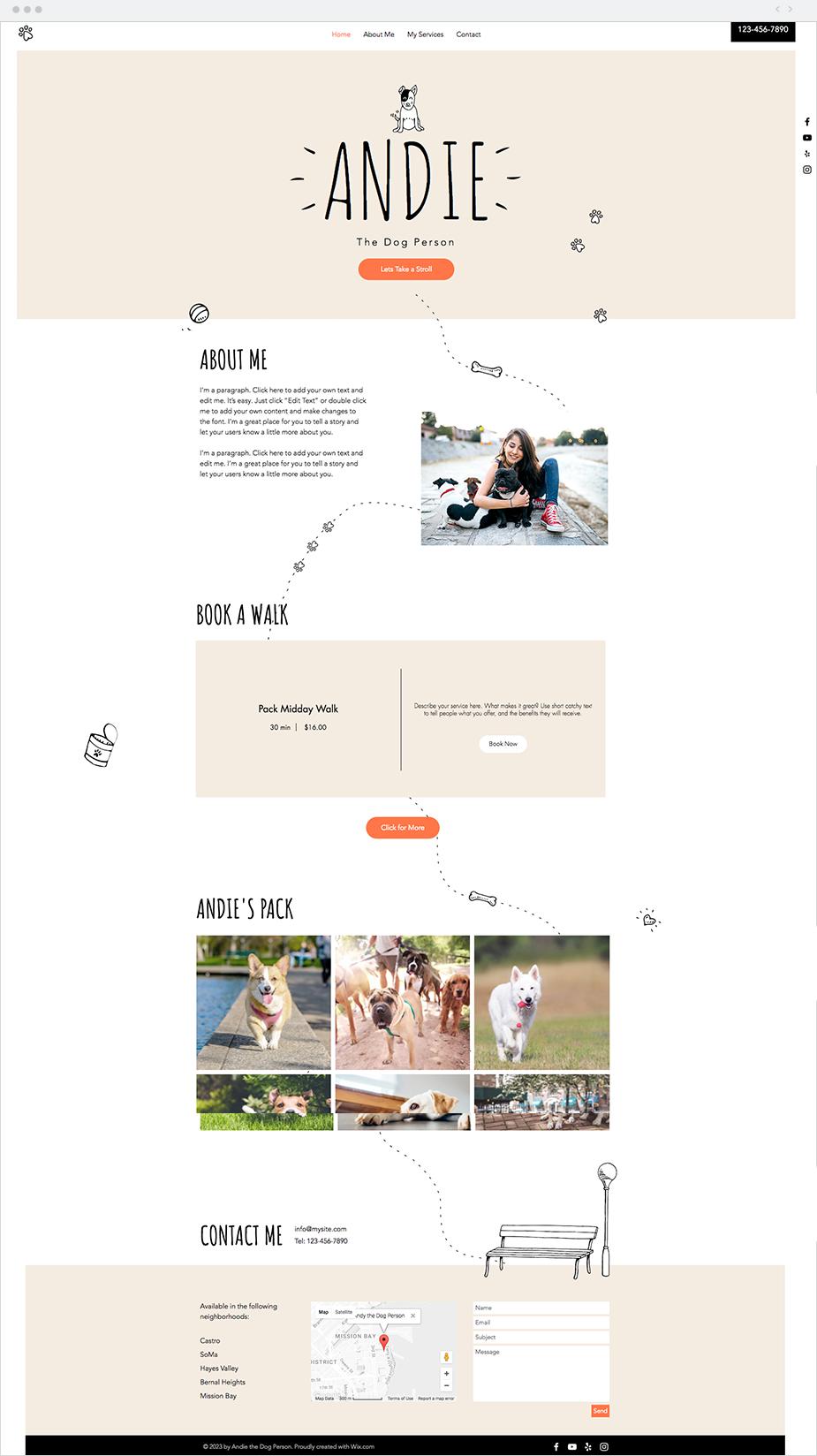 The Dog Walker Website Template