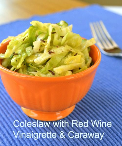 Ever wondered if there is a food Michelle can't stand to even think about let alone eat? She tells all here, and presents her recipe for Coleslaw with Red Wine Vinaigrette and Caraway!