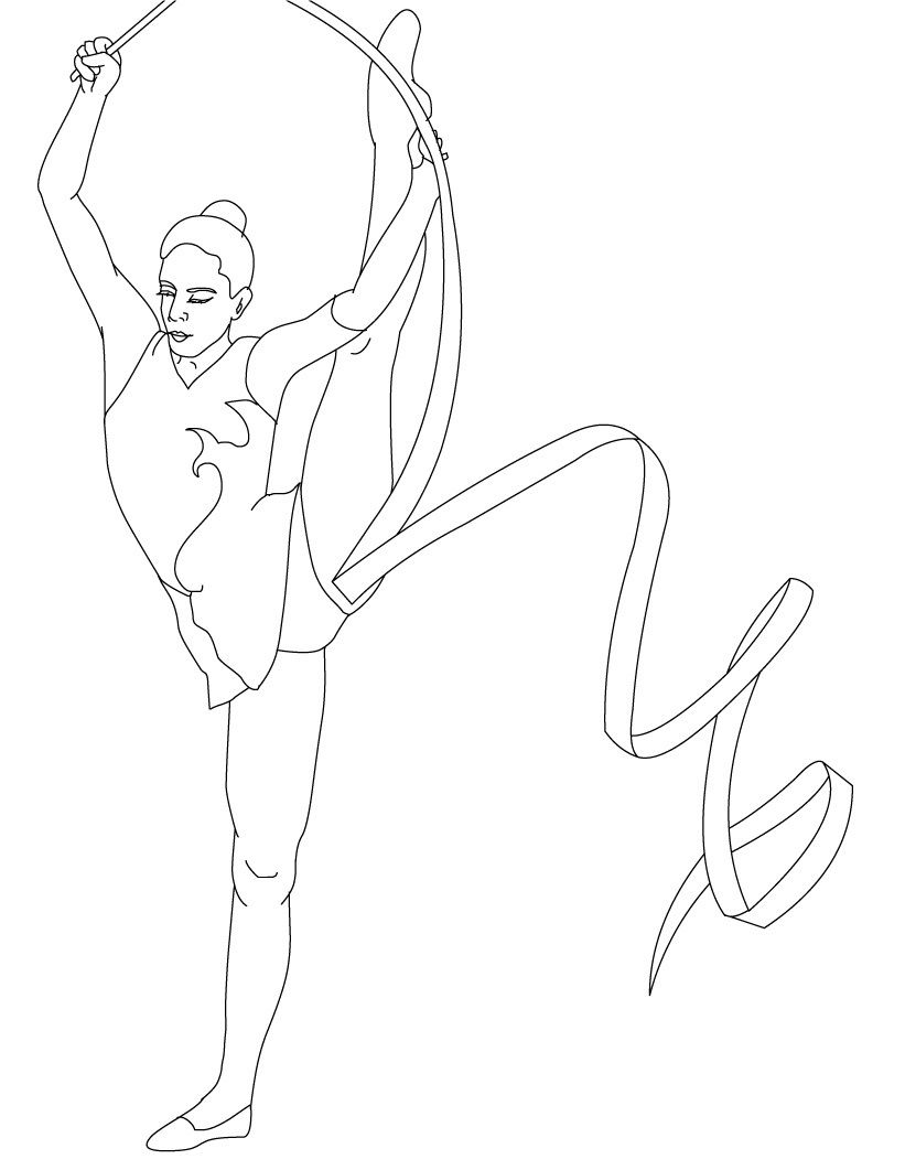 Free Printable Gymnastics Coloring Pages For Kids In 2021 Sports Coloring Pages Coloring Pages Coloring Pages For Girls [ 1061 x 821 Pixel ]